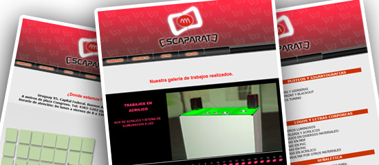 diseño web escaparate